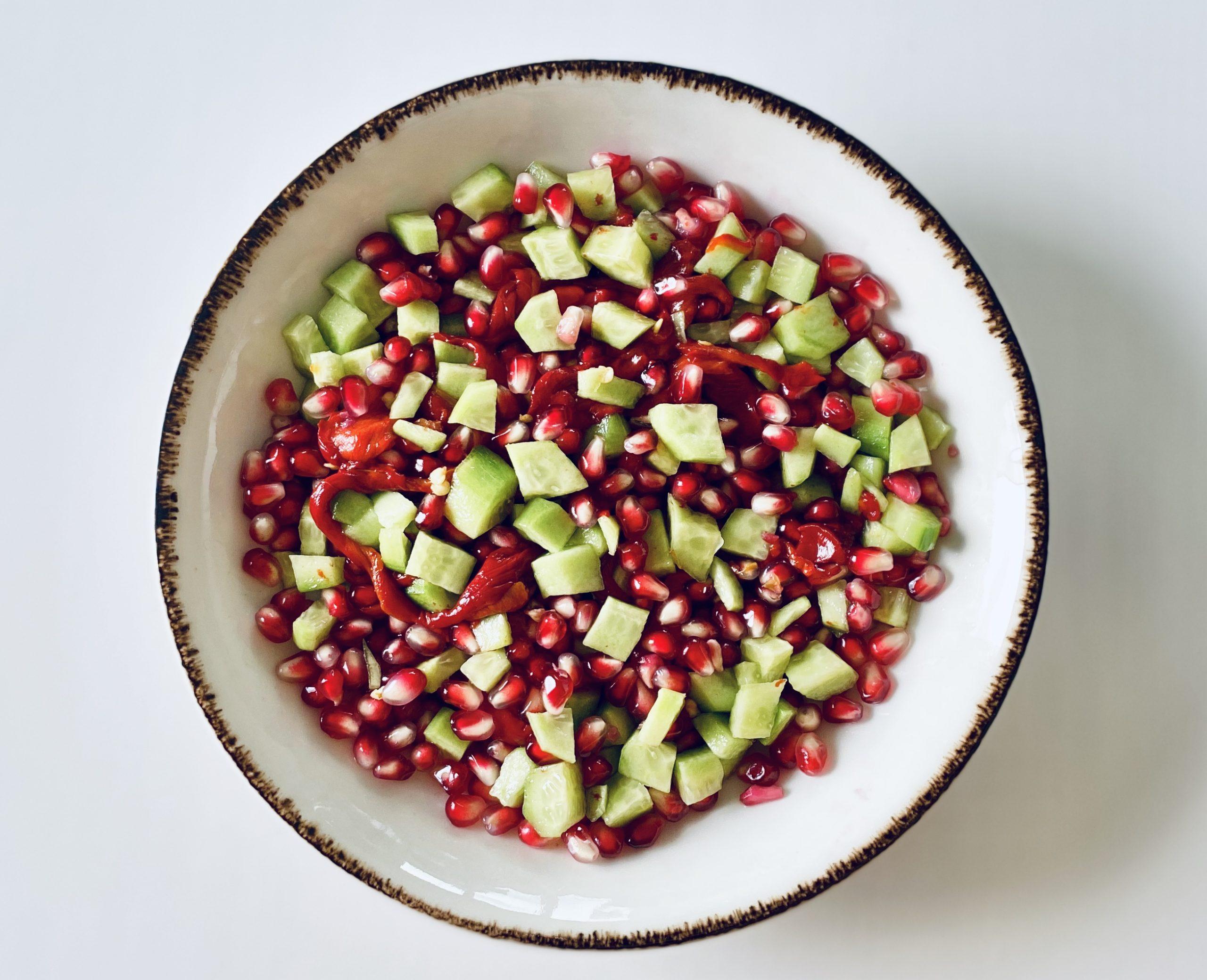 Ember Pepper & Pomegranate Salad